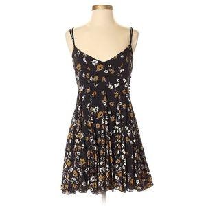 Free People Black Floral Dress, Size 0